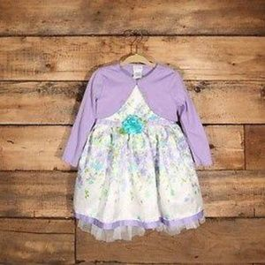 Sweet Heart Rose floral dress with shrug Size 24M